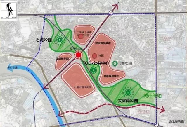 地下商业 下沉广场 石湾地铁站规划出炉