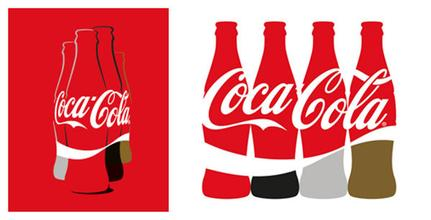 可乐瓶子矢量图