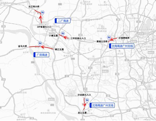 南海九江大桥地图