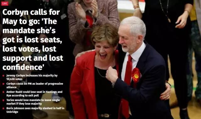 """号外!英国大选结果出炉!梅姨被喊""""下台""""!-激流网"""