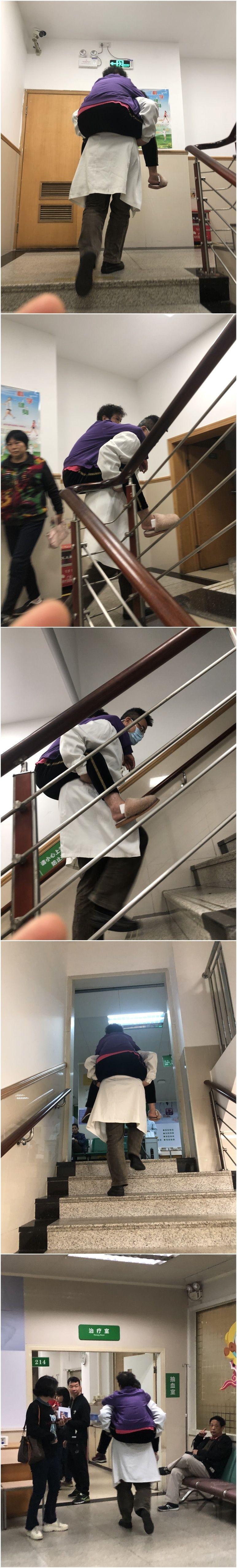 """暖心刷屏!佛山医生背病人爬楼梯治疗,留下""""感人背影"""""""